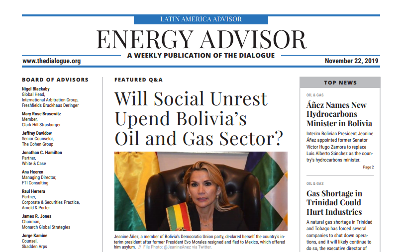 Will social unrest upend Bolivia´s Oil and Gas Sector?