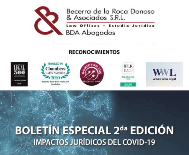 BDA ABOGADOS: LEGAL IMPACTS OF COVID-19 IN BOLIVIA 2nd Edition