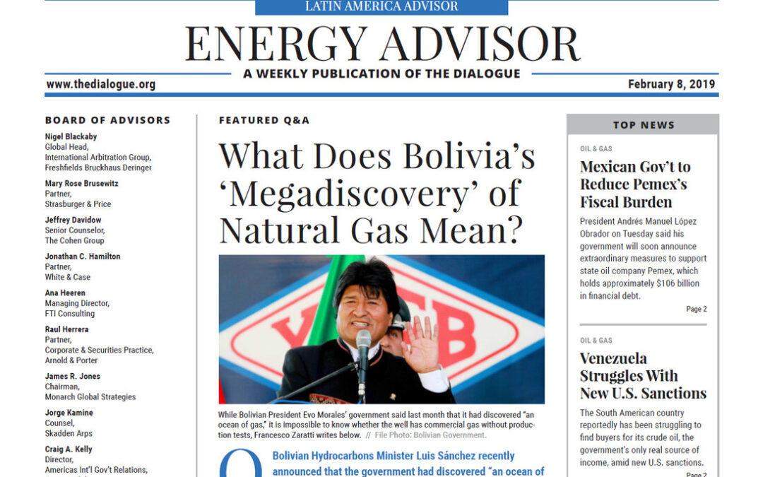 """¿Qué significa la """"Megadescubrición"""" del Gas Natural de Bolivia?"""